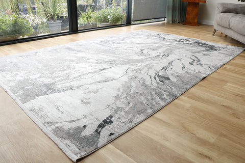 Woolknot Gooch luxury rug Abyss Frost Grey