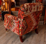 Turkish kilim covered Howard style Chair - 295811