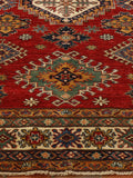 Kazak rugs are generally found with many colours in them