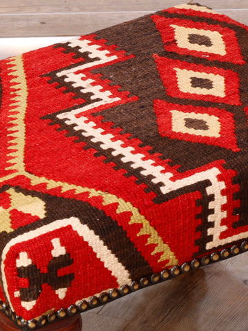Small Turkish kilim stool - 296171