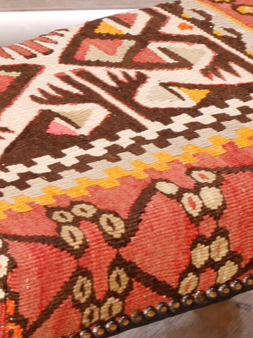 Small Turkish kilim stool - 296172