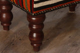 Small Turkish kilim stool - 296204