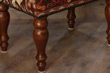 Medium Turkish kilim covered stool - 296208