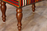 Turkish kilim covered stool - 296209