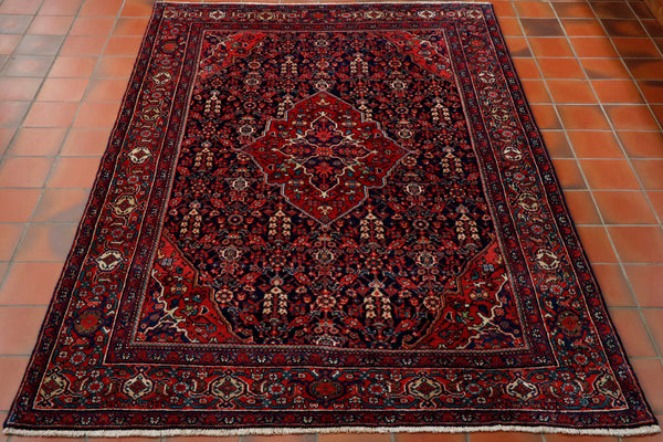 Semi old Persian Malayer rug - 306294