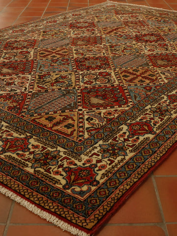Semi old Persian Qum rug - 306295