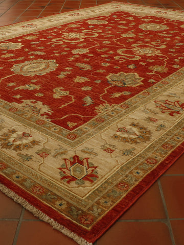 Extra fine Afghan Ziegler rug with silk highlights - 306310