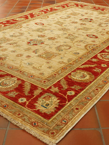 Extra fine Afghan Ziegler rug with art silk highlights - 306314