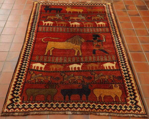 Old Persian Gabbeh rug - 306347