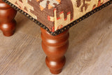 Small Turkish kilim stool - 306819