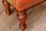 Medium Turkish kilim covered stool - 306826