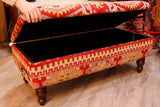 Turkish Kilim covered ottoman - 307084