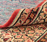 The Mahal carpets are made of wool in a medium weave and thick pile.