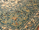Persian Kashan rugs and carpets are usually made with red and blue colourings.