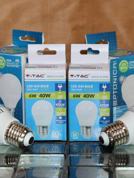 Large Edison screw LED lightbulb (warm white) - LESWW6W