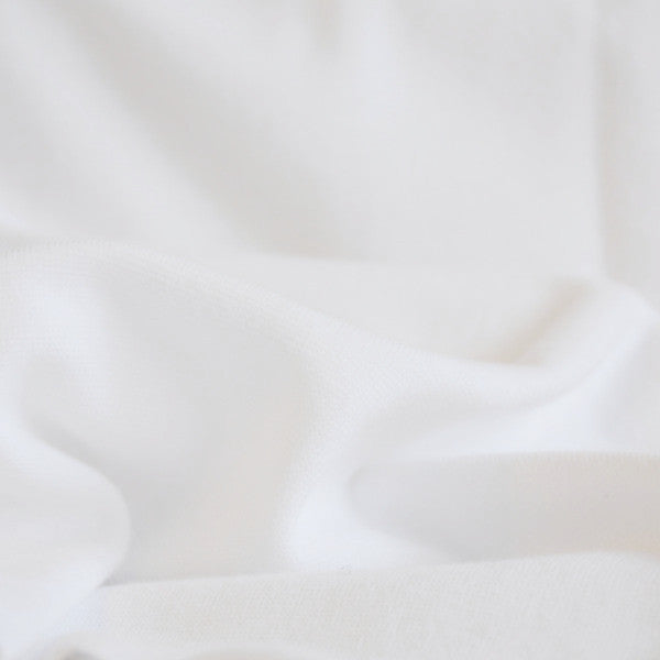 Bamboo Cotton Fabric Washed Jersey White Delyla Soft Comfortable Fabric Made in Canada