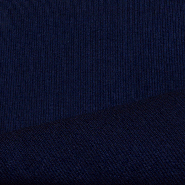 Bamboo Cotton Spandex Rib 2x1 Navy 13-13.5 oz.