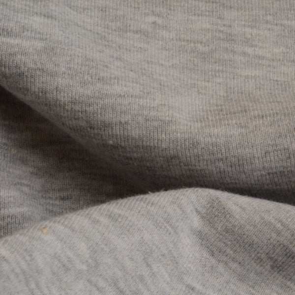 Cotton Polyester Heather Rib 1x1 Grey Mix 10-10.5 oz.