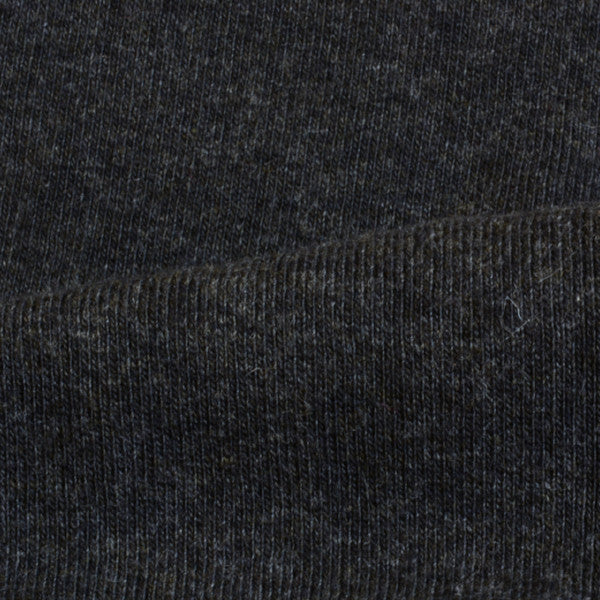 Organic Cotton Rib 1X1 Charcoal 12.5-13 oz.