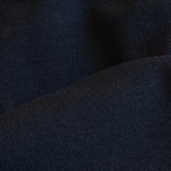 Organic Cotton Fabric Washed Jersey Black 9.5-10 oz.