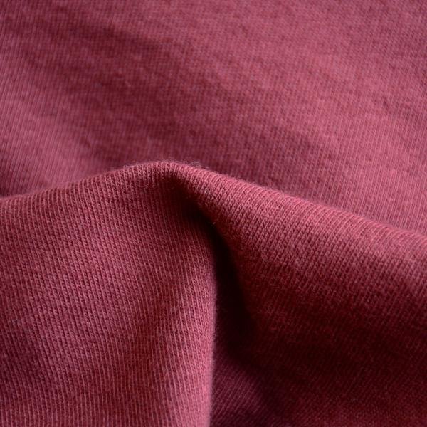 Organic Cotton Fabric Washed Jersey Burgundy 8.5-9 oz