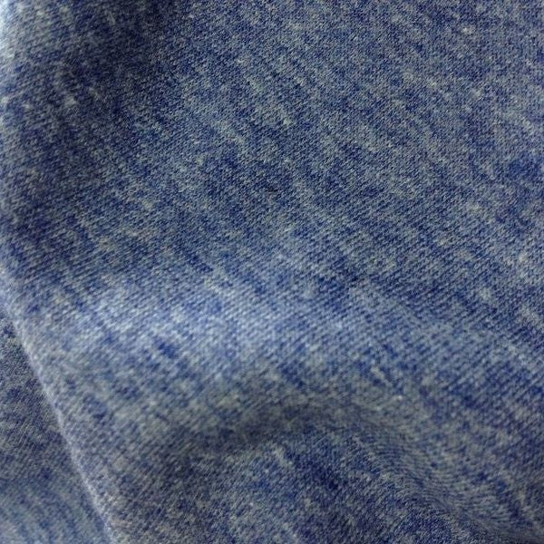 Cotton Polyester Heather Rib 1x1 Electric Blue 9-9.5 oz.