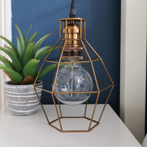 Geometric Cage Lights