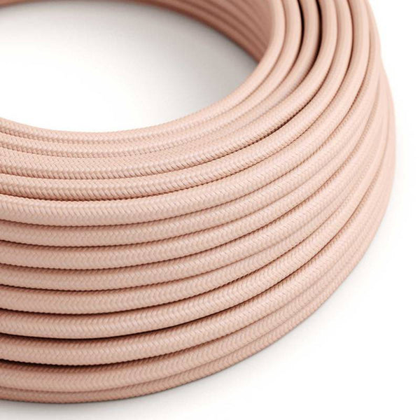Eddie & Sons Round Fabric Cable - Baby Pink (5 Meter Length)