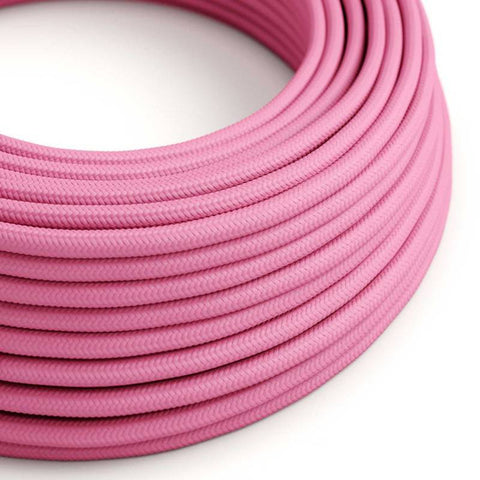 Eddie & Sons Round Fabric Cable - Bubble Gum Pink (5 Meter Length)