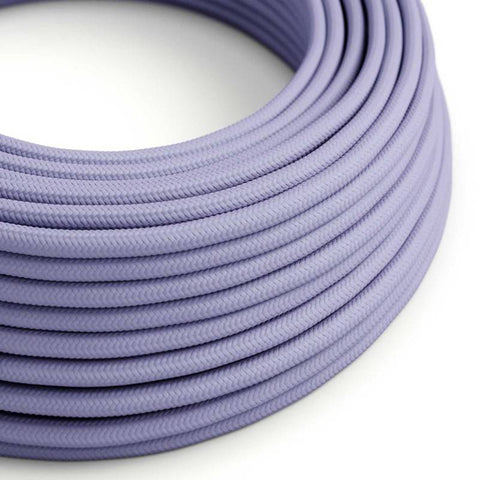 Eddie & Sons Round Fabric Cable - Lavender (5 Meter Length)