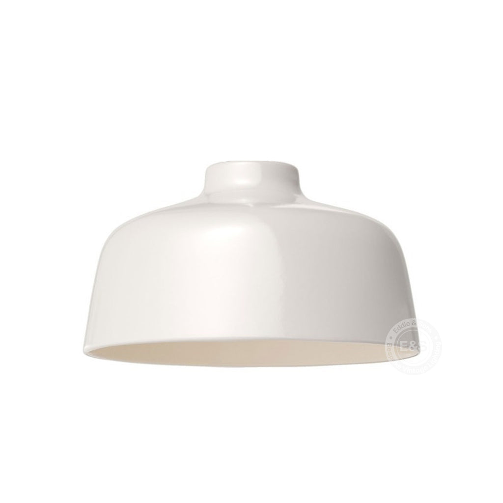 Ceramic Classic Shade, glossy white with polished white interior, Made in Italy