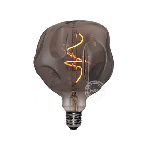 Eddie & Sons G125 Smoked Glass Bunker Bulb - 5W LED Dimmable E27