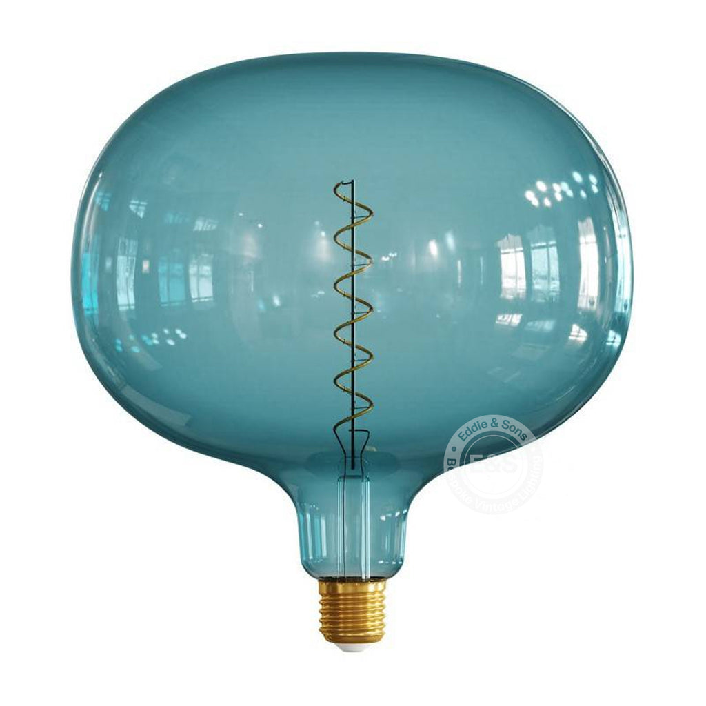 Oval Pop Blue Pastel EXTRA LARGE light bulb, 4W E27 Dimmable 2200K