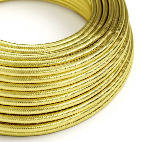 Eddie & Sons Round Fabric Cable - Brass (5 Meter Length)
