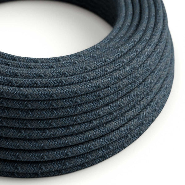 Eddie & Sons Round Fabric Cable - Slate Blue (5 Meter Length)