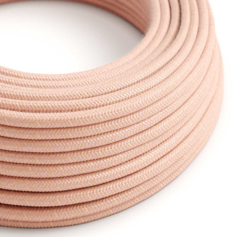 Eddie & Sons Round Fabric Cable - Salmon (5 Meter Length)