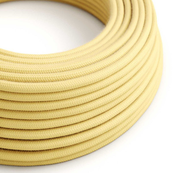 Eddie & Sons Round Fabric Cable - Lancaster Yellow (5 Meter Length)
