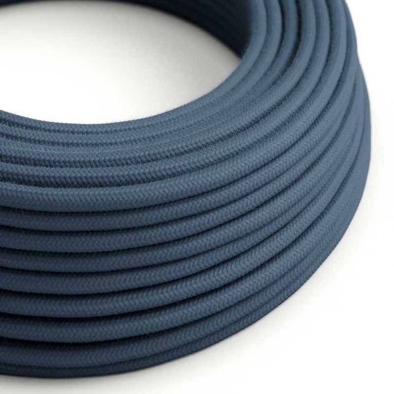 Eddie & Sons Round Fabric Cable - Duck Egg Blue (5 Meter Length)