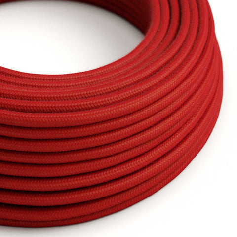 Eddie & Sons Round Fabric Cable - Post Box Red (5 Meter Length)
