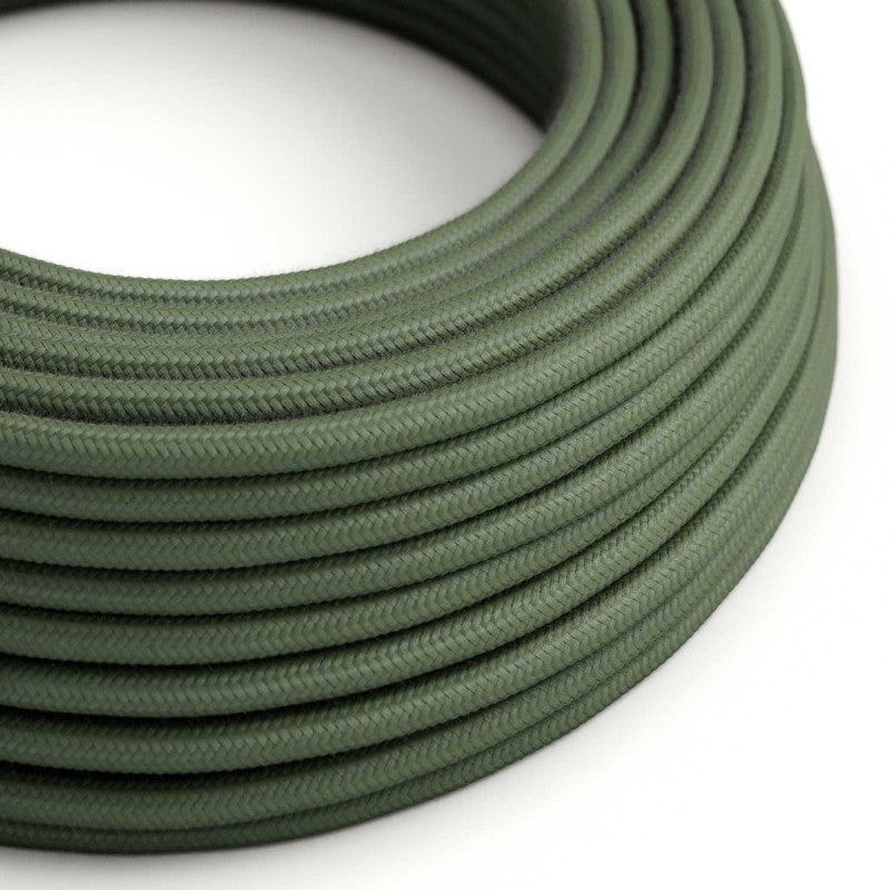 Eddie & Sons Round Fabric Cable - CASTLE GRAY (5 Meter Length)