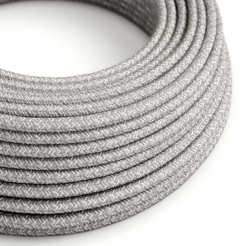 Eddie & Sons Round Fabric Cable - Natural Linen (5 Meter Length)