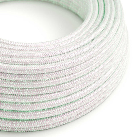 Eddie & Sons Round Fabric Cable - Pearl White (5 Meter Length)
