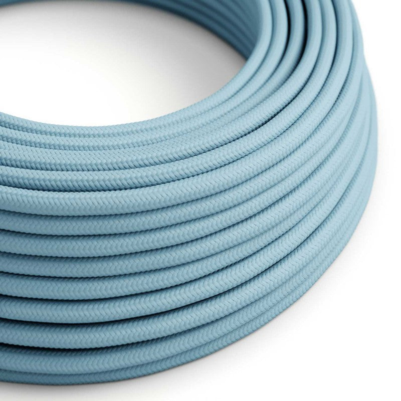 Eddie & Sons Round Fabric Cable - Baby Blue (5 Meter Length)