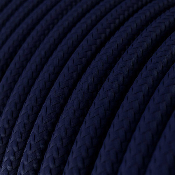 Eddie & Sons Round Fabric Cable - Navy (5 Meter Length)