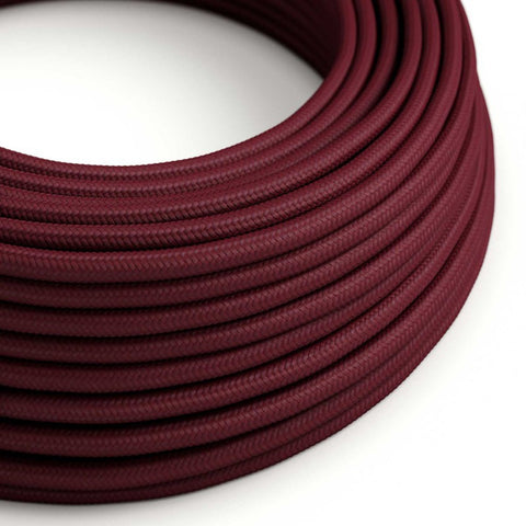 Eddie & Sons Round Fabric Cable - Burgundy (5 Meter Length)