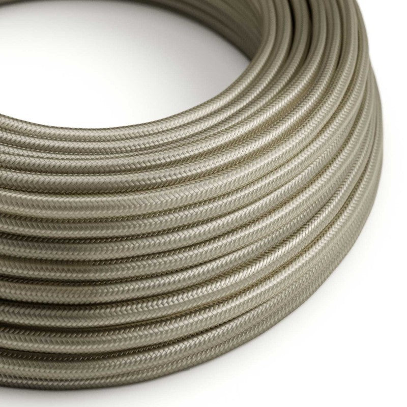 Eddie & Sons Round Fabric Cable - Satin Grey (5 Meter Length)