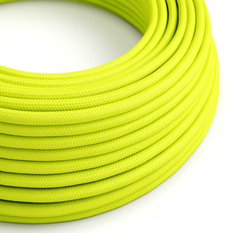 Eddie & Sons Round Fabric Cable - Luminous Yellow (5 Meter Length)