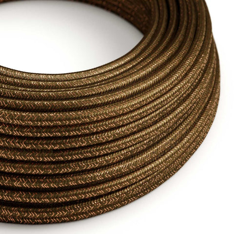 Eddie & Sons Round Fabric Cable - Bronze Glitter (5 Meter Length)