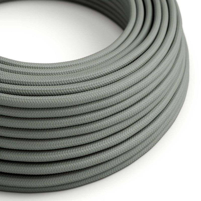 Eddie & Sons Round Fabric Cable - Dove Grey (5 Meter Length)