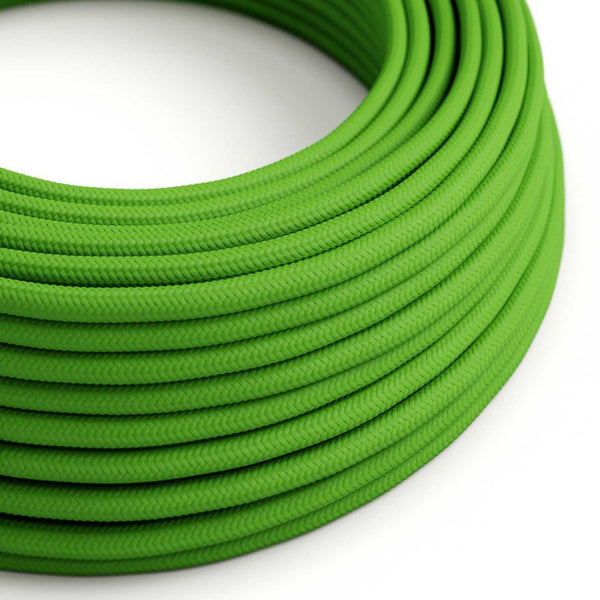 Eddie & Sons Round Fabric Cable - Pea Green (5 Meter Length)
